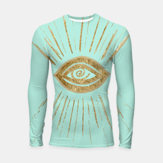 Evil Eye Gold on Mint #1 #drawing #decor #art  Longsleeve rashguard thumbnail image