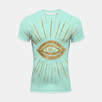 Evil Eye Gold on Mint #1 #drawing #decor #art  Shortsleeve rashguard thumbnail image