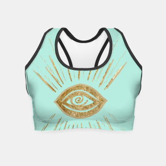 Evil Eye Gold on Mint #1 #drawing #decor #art  Crop Top thumbnail image