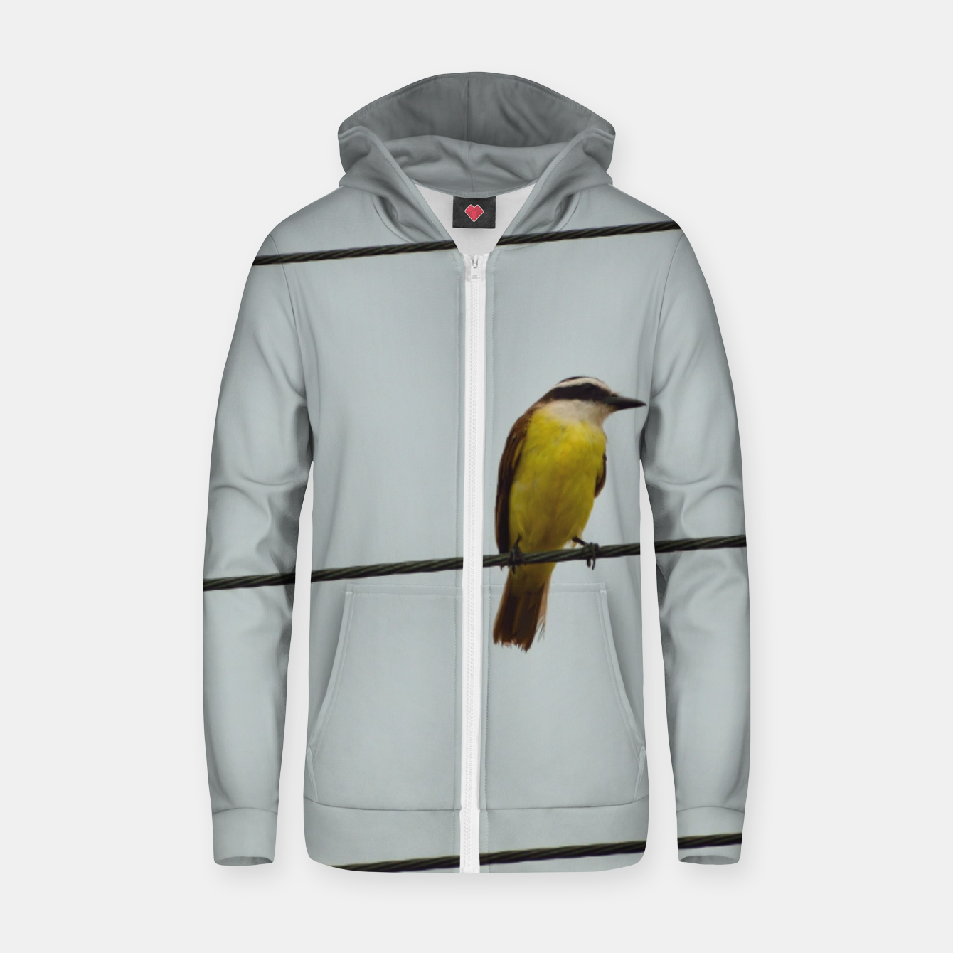 Image of Great kiskadee Zip up hoodie - Live Heroes