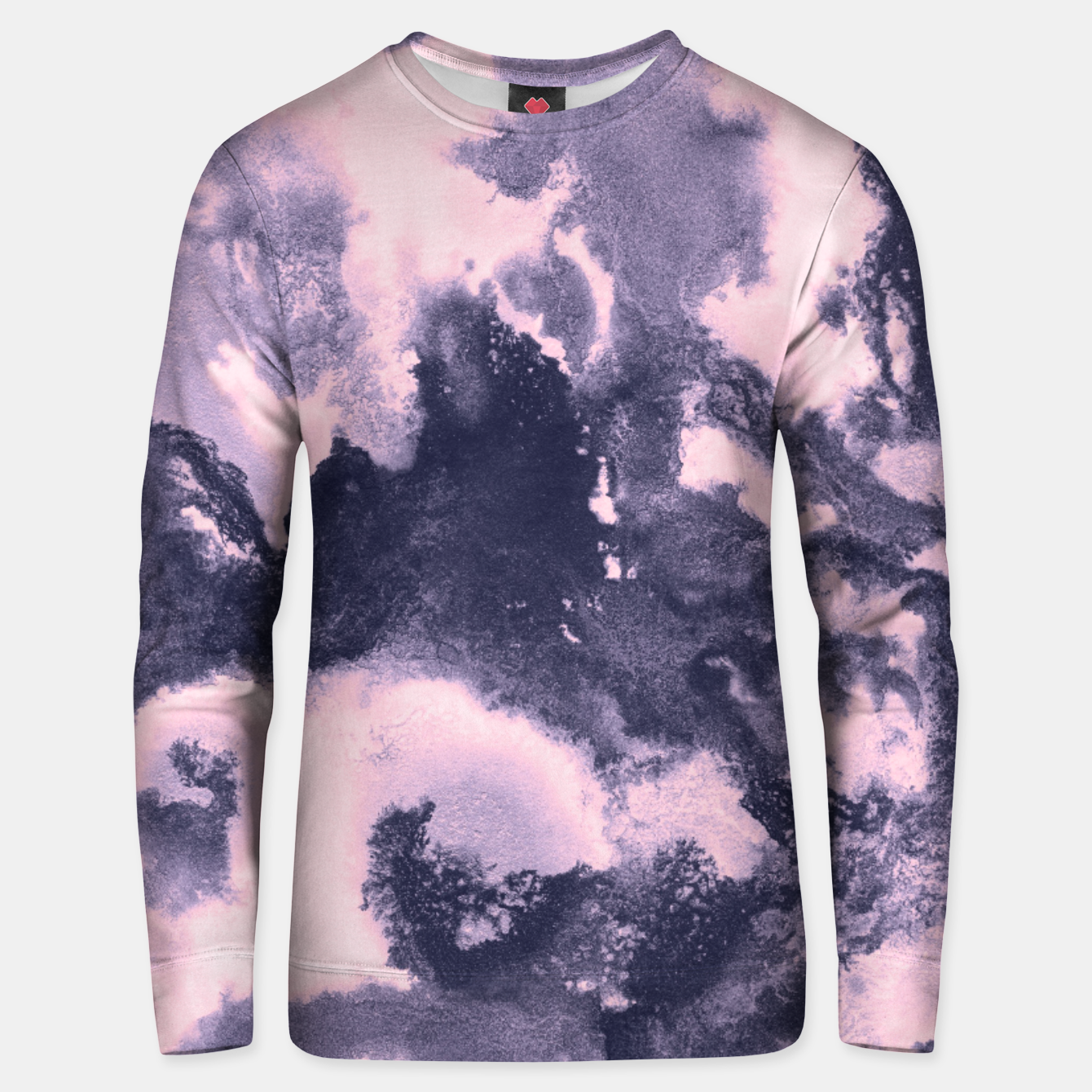 Image of Blush Pink and Purple Blue Abstract Painting #1 #ink #decor #art Unisex sweatshirt - Live Heroes