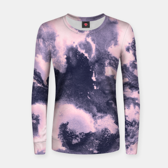 Blush Pink and Purple Blue Abstract Painting #1 #ink #decor #art Frauen sweatshirt thumbnail image