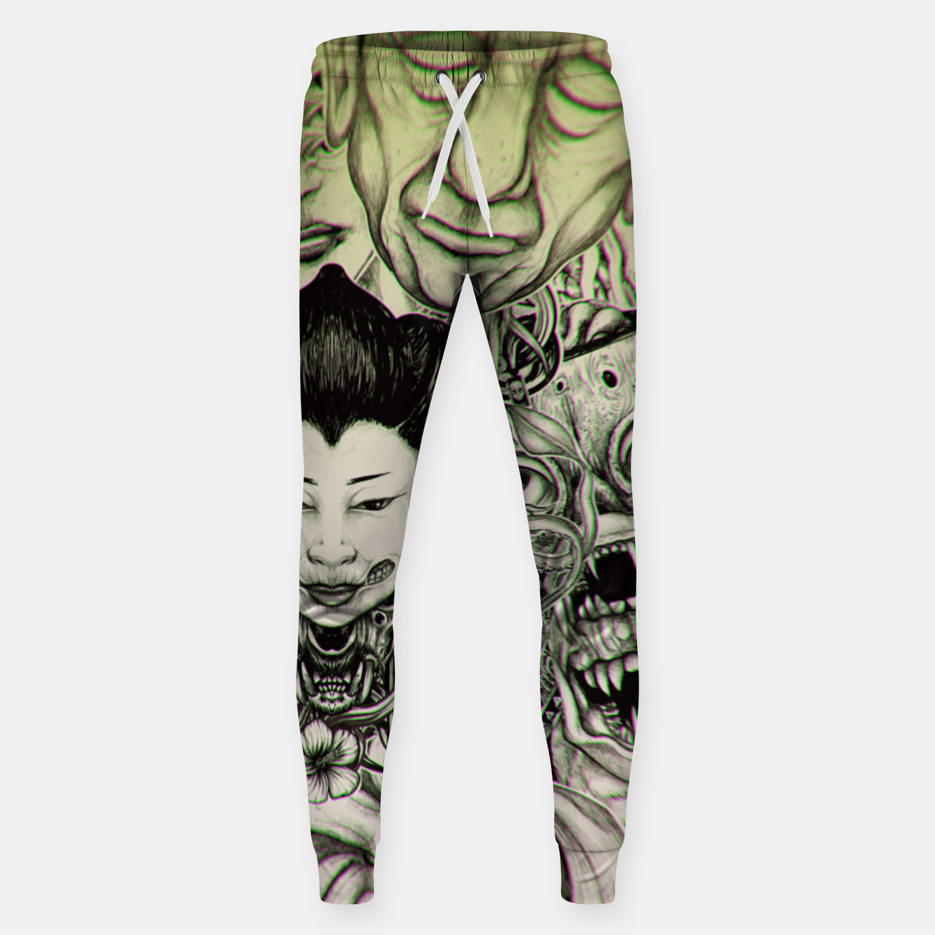 Image of Gheisha Mix Sweatpants - Live Heroes