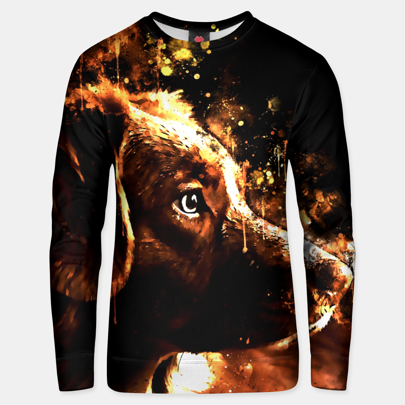 Image of retriever dog ws std Unisex sweater - Live Heroes