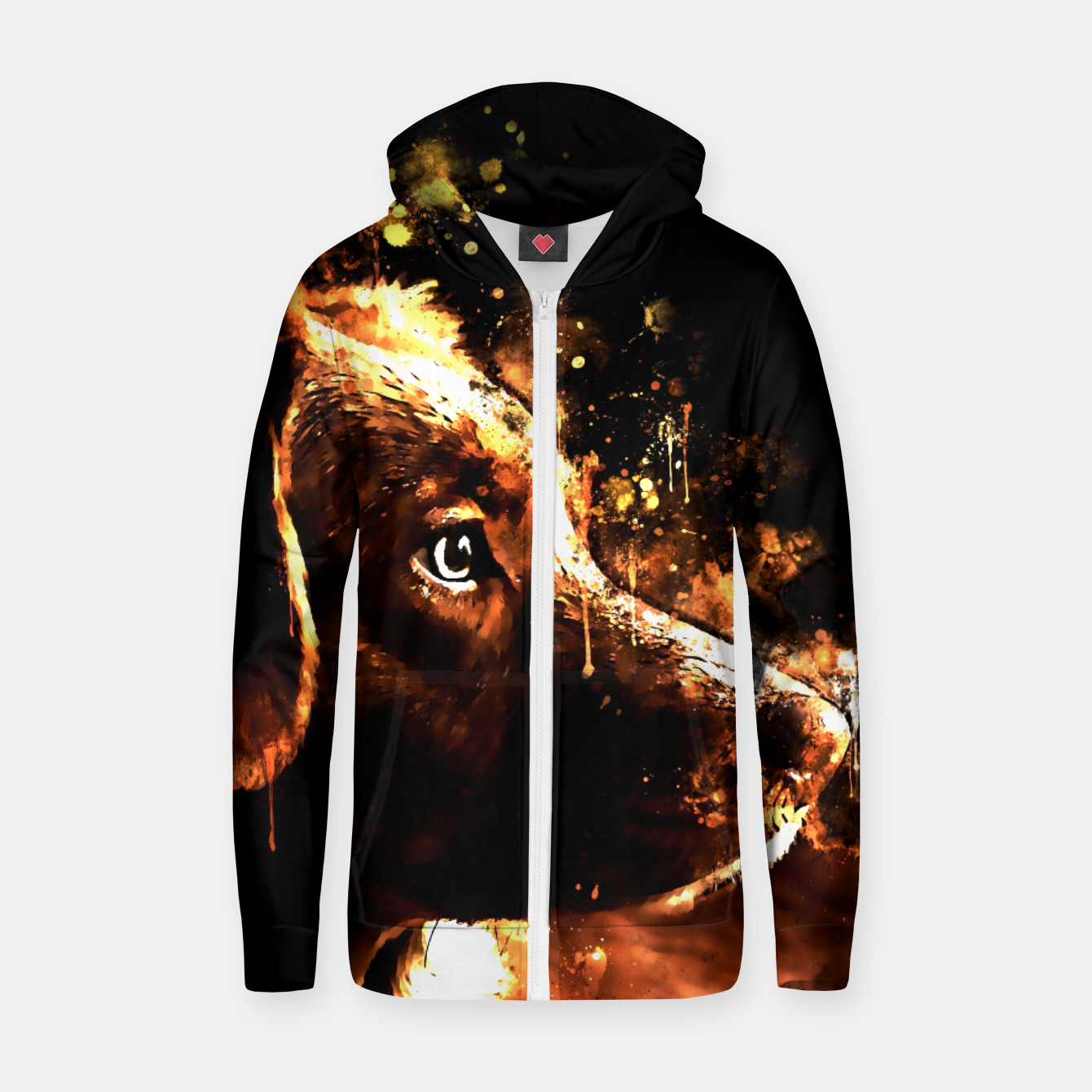 Image of retriever dog ws std Zip up hoodie - Live Heroes
