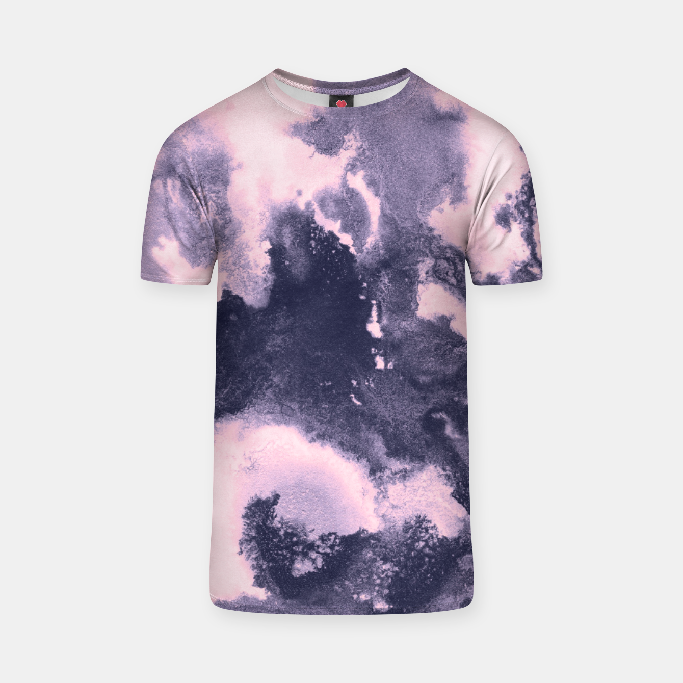 Image of Blush Pink and Purple Blue Abstract Painting #1 #ink #decor #art T-Shirt - Live Heroes