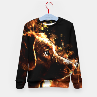 retriever dog ws std Kid's sweater thumbnail image