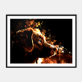 retriever dog ws std Framed poster thumbnail image
