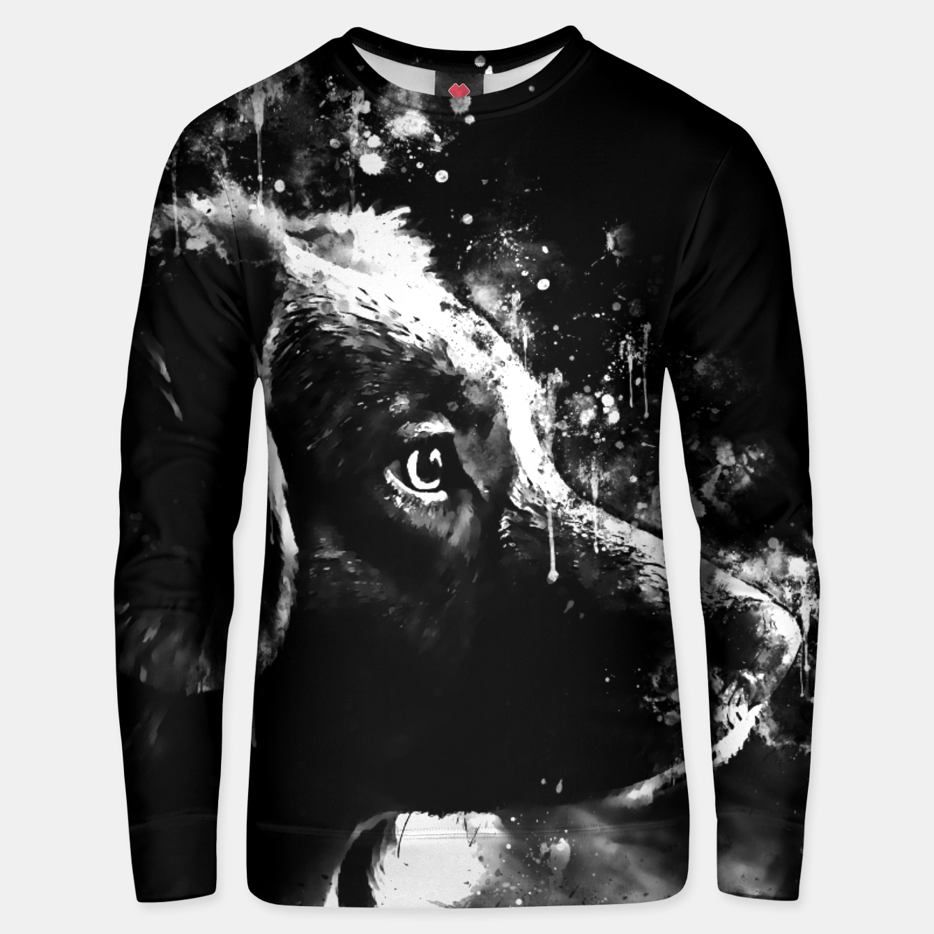 Image of retriever dog ws bw Unisex sweater - Live Heroes