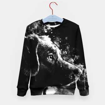 retriever dog ws bw Kid's sweater thumbnail image