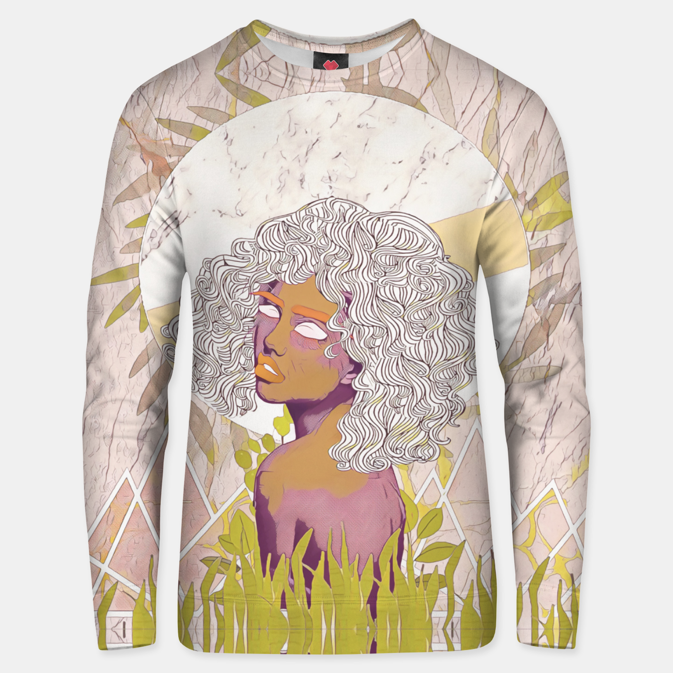 Image of Marble Girl Unisex sweater - Live Heroes
