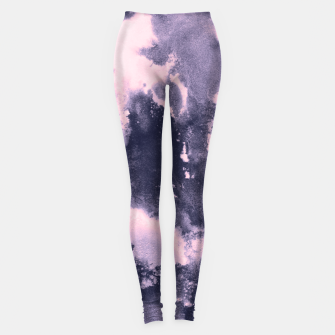 Miniaturka Blush Pink and Purple Blue Abstract Painting #1 #ink #decor #art Leggings, Live Heroes