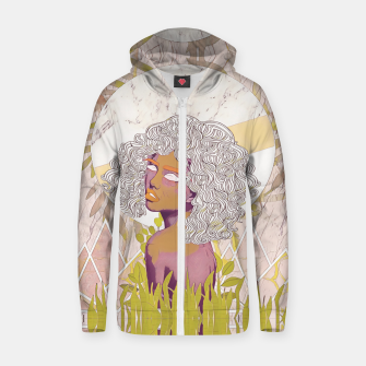 Thumbnail image of Marble Girl Zip up hoodie, Live Heroes