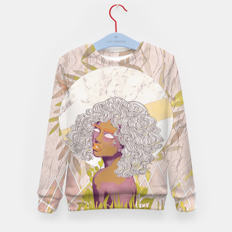Thumbnail image of Marble Girl Kid's sweater, Live Heroes