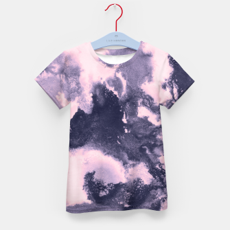 Blush Pink and Purple Blue Abstract Painting #1 #ink #decor #art T-Shirt für kinder thumbnail image