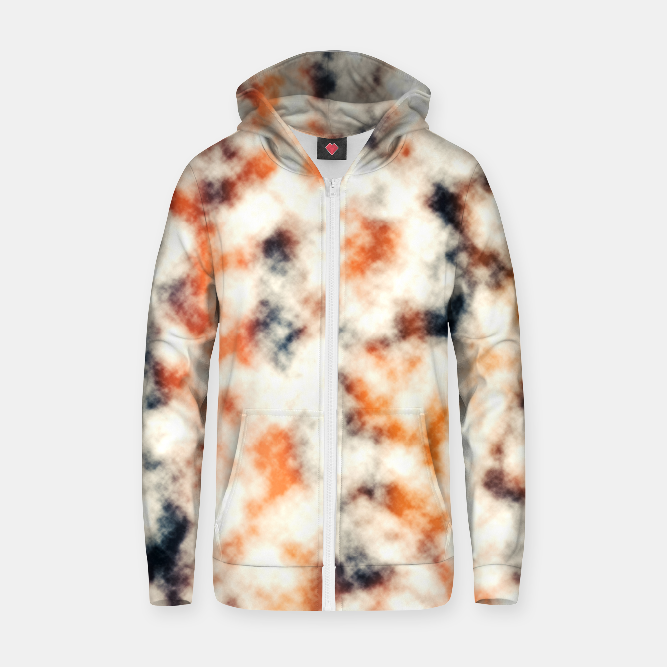 Image of Multicolored Abstract Print Zip up hoodie - Live Heroes