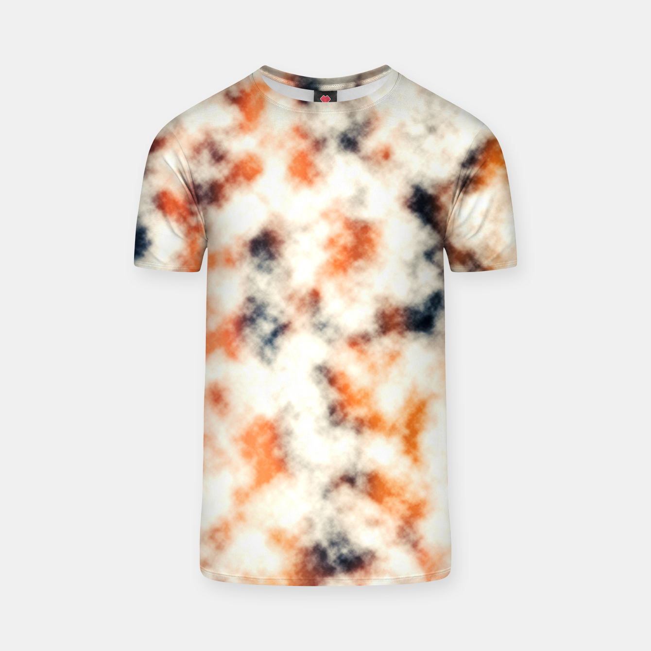 Image of Multicolored Abstract Print T-shirt - Live Heroes