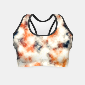 Multicolored Abstract Print Crop Top thumbnail image
