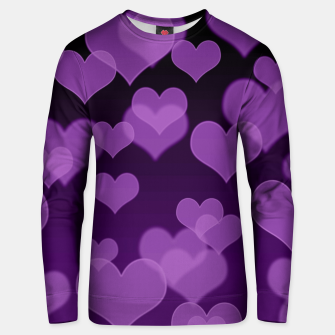 Lavender Hearts Design Unisex sweater thumbnail image