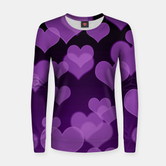 Lavender Hearts Design Women sweater thumbnail image