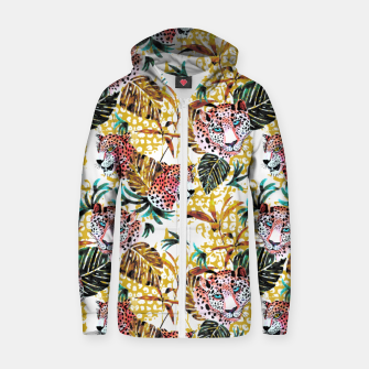 Wild animal jungle Sudadera con capucha y cremallera  thumbnail image