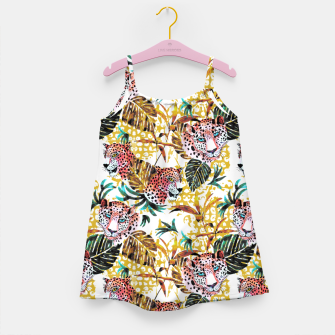 Wild animal jungle Vestido para niñas miniature