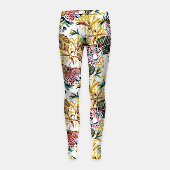 Wild animal jungle Leggings para niña thumbnail image