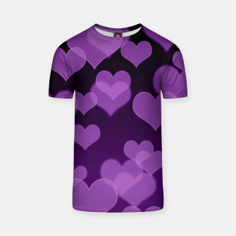 Thumbnail image of Lavender Hearts Design T-shirt, Live Heroes
