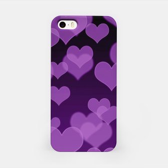 Lavender Hearts Design iPhone Case thumbnail image
