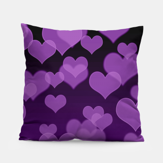 Lavender Hearts Design Pillow thumbnail image