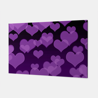 Lavender Hearts Design Canvas thumbnail image