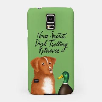 Nova Scotia Duck Trolling Retriever (Green) Samsung Case thumbnail image
