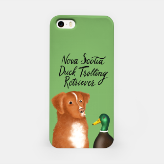 Nova Scotia Duck Trolling Retriever (Green) iPhone Case thumbnail image