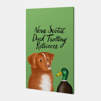 Nova Scotia Duck Trolling Retriever (Green) Canvas thumbnail image