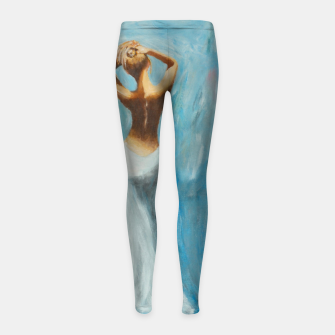 Thumbnail image of Woman in the blue Kinder-Leggins, Live Heroes