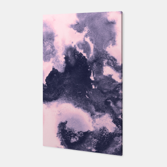 Blush Pink and Purple Blue Abstract Painting #1 #ink #decor #art Canvas thumbnail image