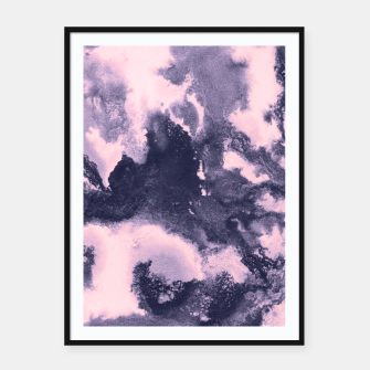 Blush Pink and Purple Blue Abstract Painting #1 #ink #decor #art Plakat mit rahmen thumbnail image