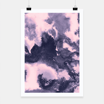 Blush Pink and Purple Blue Abstract Painting #1 #ink #decor #art Plakat thumbnail image