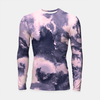 Blush Pink and Purple Blue Abstract Painting #1 #ink #decor #art Longsleeve rashguard thumbnail image