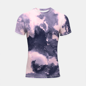 Miniaturka Blush Pink and Purple Blue Abstract Painting #1 #ink #decor #art Shortsleeve rashguard, Live Heroes
