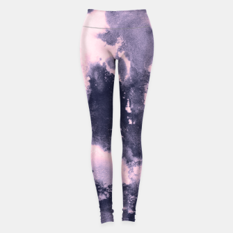 Blush Pink and Purple Blue Abstract Painting #1 #ink #decor #art Leggings thumbnail image