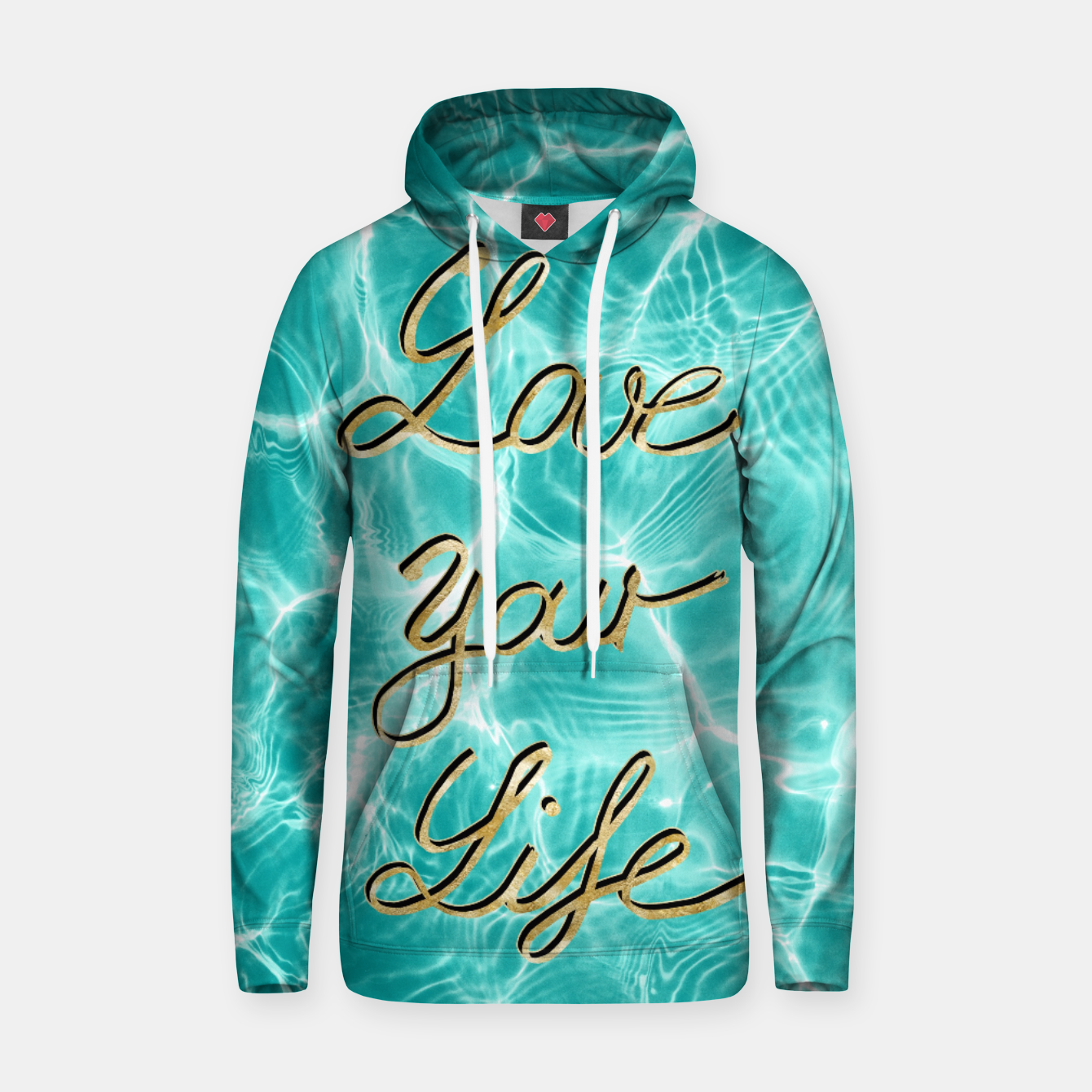 Image of Love Your Life - Pool Dream #1 Edition #typo #decor #art Kapuzenpullover - Live Heroes