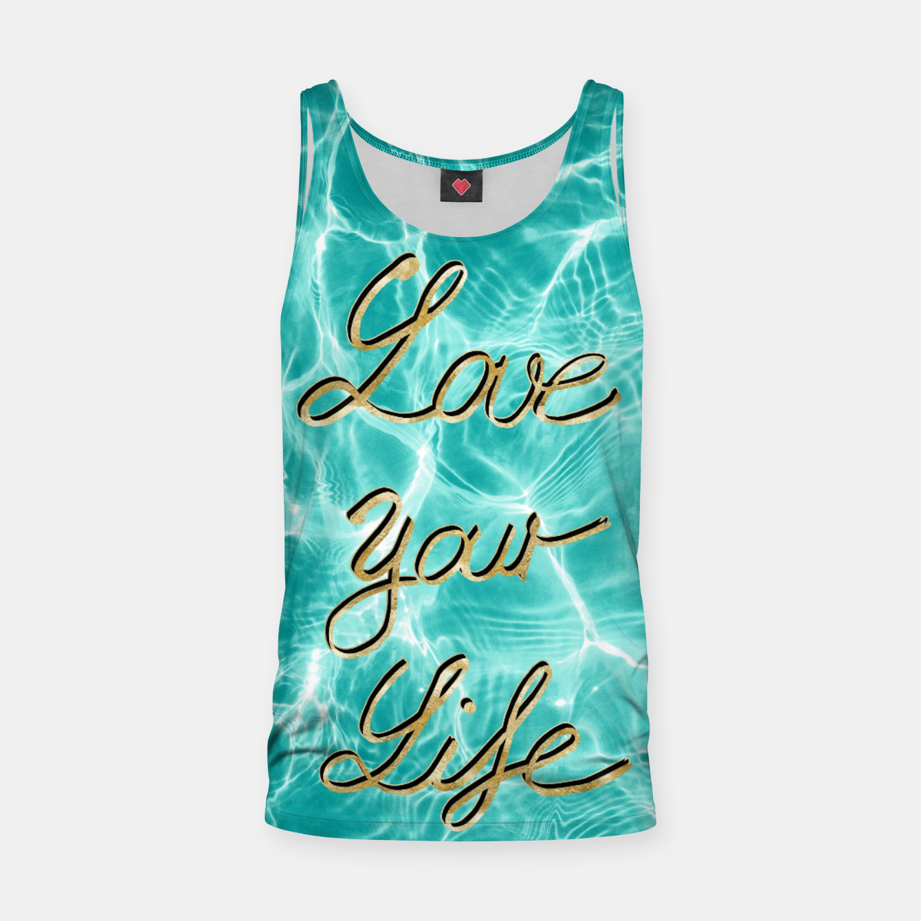Image of Love Your Life - Pool Dream #1 Edition #typo #decor #art Muskelshirt  - Live Heroes
