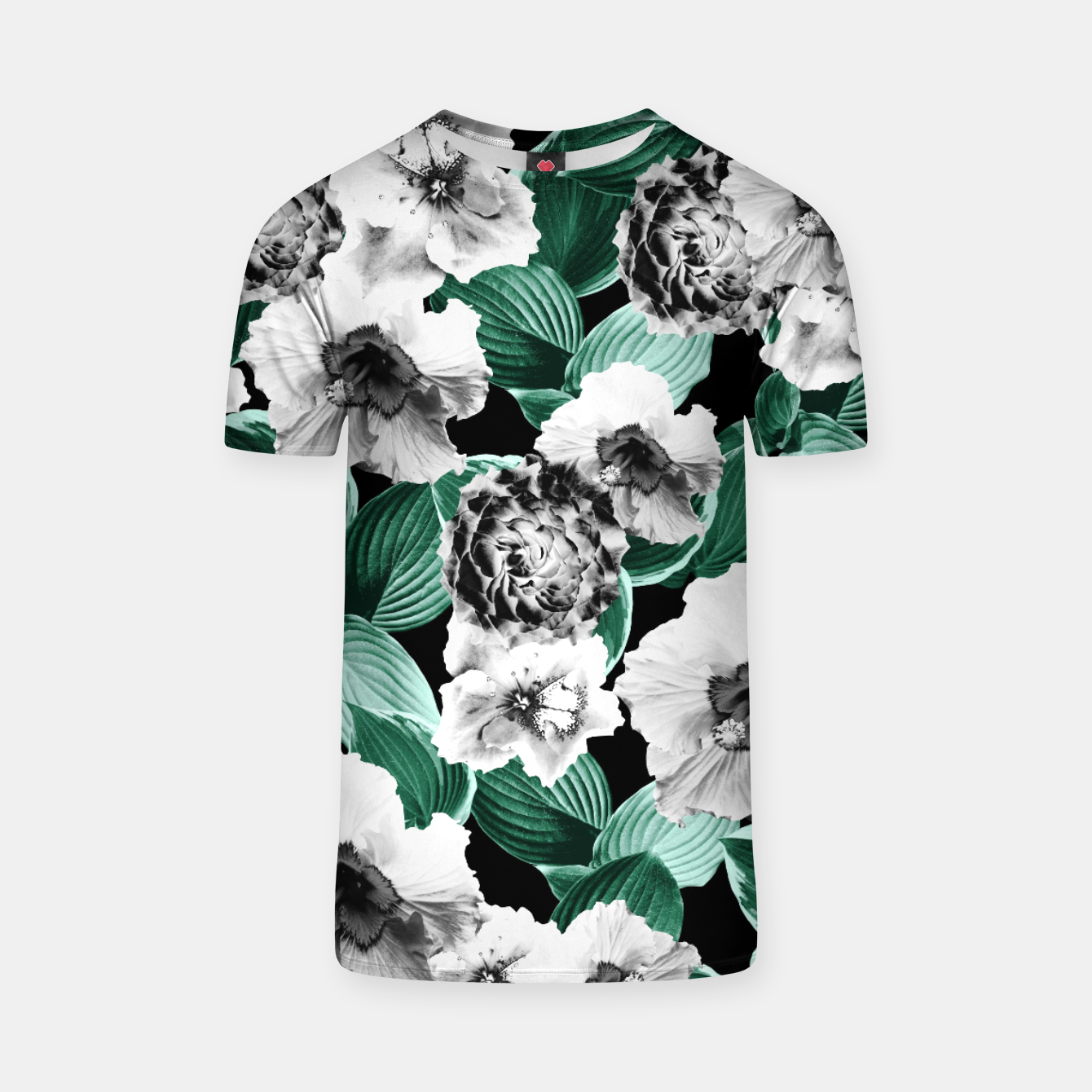 Image of Black and White Floral Garden Glamor #3 #floral #decor #art T-Shirt - Live Heroes