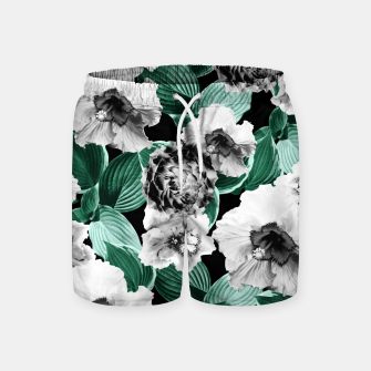 Black and White Floral Garden Glamor #3 #floral #decor #art Badeshorts thumbnail image