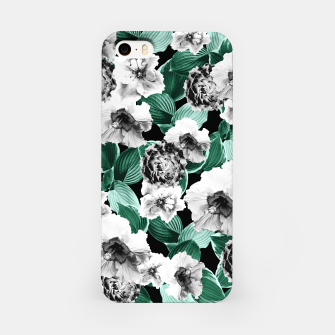 Black and White Floral Garden Glamor #3 #floral #decor #art iPhone-Hülle thumbnail image