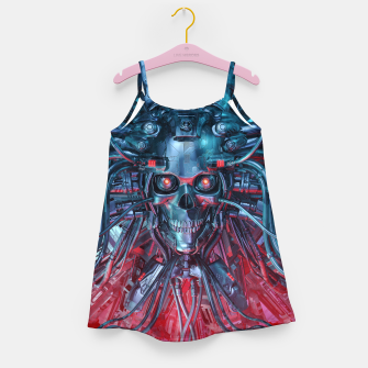 Heavy Metal Mind Skull Girl's dress thumbnail image