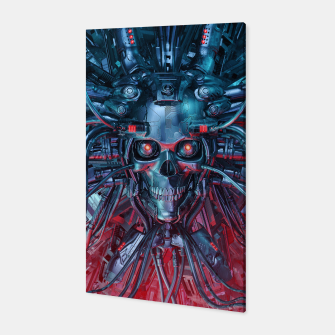 Heavy Metal Mind Skull Canvas thumbnail image
