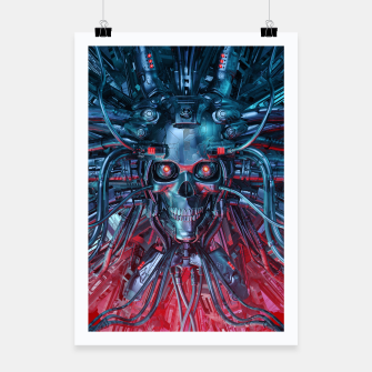 Thumbnail image of Heavy Metal Mind Skull Poster, Live Heroes