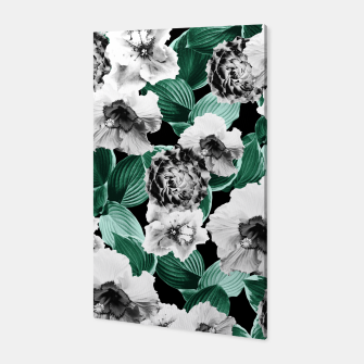 Black and White Floral Garden Glamor #3 #floral #decor #art Canvas thumbnail image